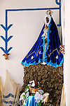 Central America, Cuba, Trinidad. Santeria Altar to Yemaya, Goddess of the Sea, at Casa Templo de Santer&iacute;a Yemay&aacute; in Trinidad.