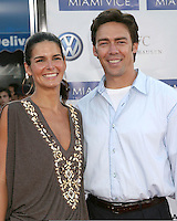 "Angie Harmon & Jason Seahorn.""Miami Vice"" Premiere.Mann's Village Theater.Westwood, CA.July 20, 2006.©2006 Kathy Hutchins / Hutchins Photo...."