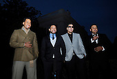 "Washington, DC - October 13, 2009 -- Musicians Aventura, (L tor R) Anthony ""Romeo"" Santos, Henry Santos Jeter, Max Santos, and Lenny Santos attend a White House Music Series ""Fiesta Latina"" on the South Lawn of the White House in Washington on Tuesday, October 13, 2009. .Credit: Alexis C. Glenn / Pool via CNP"