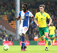 Blackburn Rovers' Marvin Emnes gets away from Norwich City's Jonathan Howson<br /> <br /> Photographer David Shipman/CameraSport<br /> <br /> The EFL Sky Bet Championship - Norwich City v Blackburn Rovers - Saturday 11th March 2017 - Carrow Road - Norwich<br /> <br /> World Copyright &copy; 2017 CameraSport. All rights reserved. 43 Linden Ave. Countesthorpe. Leicester. England. LE8 5PG - Tel: +44 (0) 116 277 4147 - admin@camerasport.com - www.camerasport.com