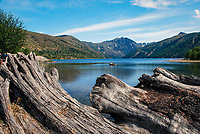 Coldwater Lake which was formed following the 1980 eruption of Mt St Helens, Washington State, USA. Rocks from the eruption blocked a mountain stream to create the lake. 200809020876..Copyright Image from Victor Patterson, 54 Dorchester Park, Belfast, N Ireland, BT9 6RJ...Tel: +44 28 9066 1296.Mob: +44 7802 353836.Email: victorpatterson@mac.com..IMPORTANT: Please go to www.victorpatterson.com and click on my Terms and Conditions of use.