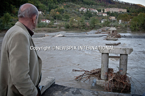 "MUDSLIDES AND FLOODING RAVAGE SCENIE ITALIAN RIVIERA.Destruction caused by the mudslides and flooding in Aulla, one of the worst-hit towns_26/10/2011.Mandatory Credit Photo: ©Niccolò Cambi/NEWSPIX INTERNATIONAL..**ALL FEES PAYABLE TO: ""NEWSPIX INTERNATIONAL""**..IMMEDIATE CONFIRMATION OF USAGE REQUIRED:.Newspix International, 31 Chinnery Hill, Bishop's Stortford, ENGLAND CM23 3PS.Tel:+441279 324672  ; Fax: +441279656877.Mobile:  07775681153.e-mail: info@newspixinternational.co.uk"