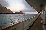 South America, Ecuador, Galapagos Islands. Island scenery from the  m/v Galapagos Explorer II.