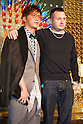 March 16, 2012, Tokyo, Japan - Hiroki Narimiya (left) and Kim Jones (right) attends a photo call for a Kim Jones event at the Louis Vuitton store in Roppongi Hills. (Photo by Christopher Jue/AFLO)
