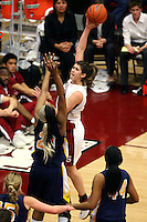4 February 2007: Stanford Cardinal Brooke Smith during Stanford's 72-57 loss against the California Golden Bears at Maples Pavilion in Stanford, CA.