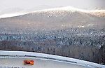 18 December 2010: Esme Kamphuis slides through curve 14 with Whiteface Mountain in the background, finishing in 7th place for the Netherlands at the Viessmann FIBT World Cup Bobsled Championships on Mount Van Hoevenberg in Lake Placid, New York, USA. Mandatory Credit: Ed Wolfstein Photo