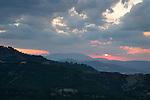 Sunset in Basilicata, Italy, Europe