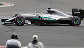 Montreal, Canada.Lewis Hamilton (GBR)for Mercedes AMG Petronas during the warm up lap of the Formula One Canadian Grand Prix held at the circuit Gilles-Villeneuve in Montreal, Quebec. June 12 2016