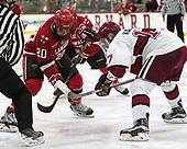 Joe Sullivan (SLU - 20), Sean Malone (Harvard - 17) - The Harvard University Crimson defeated the St. Lawrence University Saints 6-3 (EN) to clinch the ECAC playoffs first seed and a share in the regular season championship on senior night, Saturday, February 25, 2017, at Bright-Landry Hockey Center in Boston, Massachusetts.