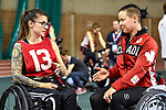 MONTREAL, QC - APRIL 29:  A participant speaks with Cindy Ouellet during the 2017 Montreal Paralympian Search at Complexe sportif Claude-Robillard. Photo: Minas Panagiotakis/Canadian Paralympic Committee