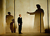 The Trial <br /> an Opera in two acts by Philip Glass with libretto by Christopher Hampton <br /> based on the book by Franz Kafka <br /> Music Theatre Wales <br /> The Royal Opera, Theater Madgeburg &amp; Scottish Opera world premier <br /> at the Linbury Studio Theatre, Royal Opera House, Covent Garden, London <br /> 8th October 2014 <br /> <br /> Act II only <br /> <br /> Michael Druiett<br /> <br /> Amanda Forbes<br /> <br /> Michael Bennett<br /> <br /> Johnny Herford (who plays the leading role - Josef K), <br /> <br /> Nicholas Folwell<br /> <br /> Gwion Thomas<br /> <br /> Rowan Hellier<br /> <br /> Paul Curievici<br /> <br /> Photograph by Elliott Franks <br /> Image licensed to Elliott Franks Photography Services