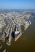 Hafencity und Speicherstadt: EUROPA, DEUTSCHLAND, HAMBURG, (EUROPE, GERMANY), 15.09.2016: Hafencity und Speicherstadt