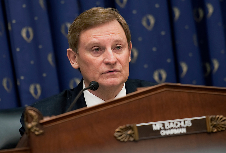 """UNITED STATES - FEBRUARY 29:  Chairman Spencer Bachus, R-Al., at a House Financial Services Committee committee hearing on """"Monetary Policy and the State of the Economy."""" (Photo By Chris Maddaloni/CQ Roll Call)"""