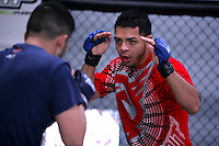 Jackson's/Winklejohn's: January 23, 2012 UFC fighter Leonard Garcia sparring in the cage during coach Greg Jackson's class at Jackson's/Winkeljohn's in Albuquerque, NM