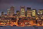 Boston, MA. City at night.