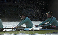 PUTNEY, LONDON, ENGLAND, 05.03.2006,CUBC, Cambridge right, No.3 Sebastian Thormann, No 4. Thorsten Englemann, Pre 2006 Boat Race Fixtures,.   © Peter Spurrier/Intersport-images.com..[Mandatory Credit Peter Spurrier/ Intersport Images] Varsity Boat Race, Rowing Course: River Thames, Championship course, Putney to Mortlake 4.25 Miles