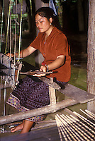 Weaving on the hand Loom