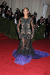 "Beyonce in Givenchy attends the Costume Institute Gala Benefit celebrating ""Schiaparelli and Prada: Impossible Conversations"".an exhibition at the Metropolitan Museum of Art in New York City on May 7, 2012."