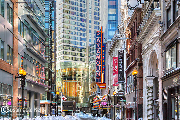 The Theater District, Boston, Massachusetts, USA