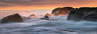 Dawn on Gillespies Beach and Tasman Sea, Westland Tai Poutini National Park, UNESCO World Heritage Area, West Coast, New Zealand, NZ