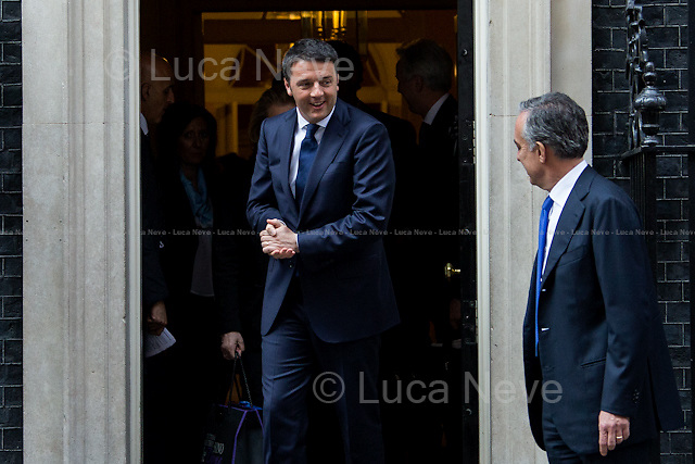(From L to R) Matteo Renzi (Italian Prime Minister) &amp; Pasquale Terracciano (Italian Ambassador in the UK). <br />