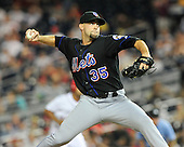 New York Mets pitcher Dillon Gee (35) pitches in the seventh inning against the Washington Nationals at Nationals Park in Washington, D.C. on Friday, July 29, 2011.  The Mets won the game 8 - 5..Credit: Ron Sachs / CNP.(RESTRICTION: NO New York or New Jersey Newspapers or newspapers within a 75 mile radius of New York City)