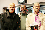 Harry Belafonte (left), Kojo Nnamdi, and Julian Bond in the studio at WAMU 88.5 following the first hour of The Kojo Nnamdi Show in which Harry Belefonte was interviewed about his new book &quot;My Song: A Memoir,&quot; with Michael Shnayerson on Wednesday, November 2, 2011.