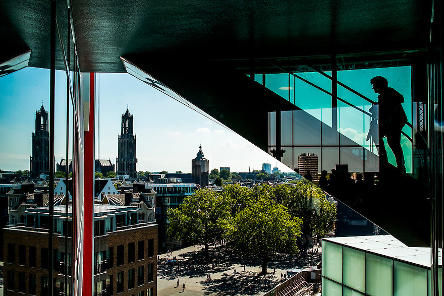 Nederland, Utrecht, 2 sep 2014<br /> Zicht op de stad vanuit het nieuwe Tivolivredenburg. <br /> <br /> Foto: (c) Michiel Wijnbergh