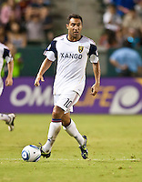 CARSON, CA – August 27, 2011: Real Salt Lake midfielder Arturo Alvarez (10) during the match between Chivas USA and Real Salt Lake at the Home Depot Center in Carson, California. Final score Chivas USA 0, Real Salt Lake 1.