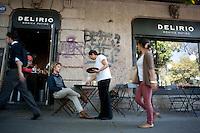 A walk through La Roma Neighbourhood with Torreblanca lead singer/composer Juan Manuel. Delirio by Monica Patiño. Colonia Roma, Mexico DF.