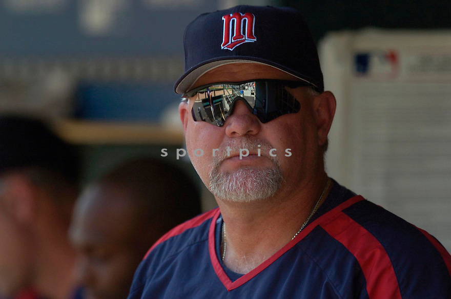 Ron Gardenhire, of the Minnesota Twins,  in action against the Detroit Tiger on July 23, 2005...Tigers win 2-1...David Durochik / SportPics