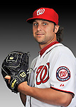 25 February 2011: Adam Carr poses for his Washington Nationals Photo Day portrait at Space Coast Stadium in Viera, Florida. Mandatory Credit: Ed Wolfstein Photo