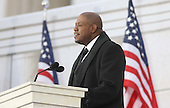 "Washington, DC - January 18, 2009 -- Forest Whitaker reads a historic passage at the ""We Are One"" , the Obama Inaugural Celebration at the Lincoln Memorial on Sunday, January 18, 2009. .Credit: Dennis Brack - Pool via CNP"