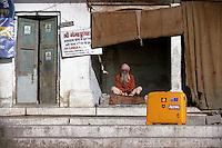 My Roncato suitcase on the streets of Varanasi, India - 1996.