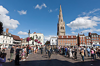 A parade and church service to commemorate the 73rd anniversary of the Battle Of Britain at Newark on Trent, Nottinghamshire,