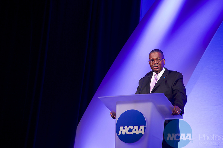 20 JAN 2017: The NCAA Association Luncheon takes place during the 2017 NCAA Convention at the Gaylord Opryland Resort and Convention Center in Nashville, TN.  Jamie Schwaberow/NCAA Photos  (Pictured:  Bernard Franklin)