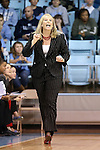05 January 2014: Maryland head coach Brenda Frese. The University of North Carolina Tar Heels played the University of Maryland Terrapins in an NCAA Division I women's basketball game at Carmichael Arena in Chapel Hill, North Carolina. Maryland won the game 79-70.