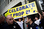 SACRAMENTO, CA - NOVEMBER 22:  Opponents of gay marriage demonstrate in Sacramento, California November 22, 2008. People across the country continue to protest the passing of California State Proposition 8 which makes gay marriage in California illegal. (Photo by Max Whittaker/Getty Images)