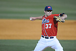 Ole Miss' Blair Wright (37) pitches at Oxford-University Stadium in Oxford, Miss. on Wednesday, March 2, 2010.