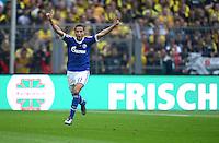 Fussball 1. Bundesliga :  Saison   2012/2013   8. Spieltag  20.10.2012 Borussia Dortmund - FC Schalke 04 Jubel nach dem Tor zum 0:1 Ibrahim Afellay  (FC Schalke 04)