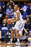 24 March 2014: Duke's Oderah Chidom. The Duke University Blue Devils played the DePaul University Blue Demons in an NCAA Division I Women's Basketball Tournament Second Round game at Cameron Indoor Stadium in Durham, North Carolina. DePaul won the game 74-65.