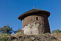23/01/12. Lalibela, Ethiopia. Lalibela-style, double-storey round house. Photo credit: Jane Hobson.