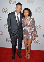 Thandie Newton &amp; Ol Parker at the 2017 Producers Guild Awards at The Beverly Hilton Hotel, Beverly Hills, USA 28th January  2017<br /> Picture: Paul Smith/Featureflash/SilverHub 0208 004 5359 sales@silverhubmedia.com