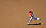 16 June 2012: Washington Nationals' shortstop Ian Desmond rounds the bases after hitting a game-tying solo home run against the New York Yankees at Nationals Park in Washington, DC. The Yankees defeated the Nationals in 14 innings by a score of 5-3, taking the second game of their 3-game series. Mandatory Credit: Ed Wolfstein Photo