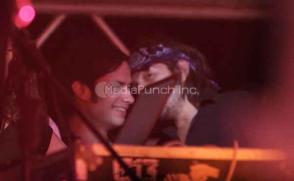 Gael Garcia Bernal and Diego Luna seen at a Calle 13 in concert in Mexico. May 25, 2012. ©Tirador Primero/NortePhoto/MediaPunch Inc. ***NO MEXICO*** ***NO SPAIN***