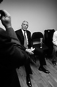 Greenville, South Carolina.USA.January 29, 2004..General Wesely Clark in a holding room moments before a national debate.