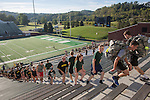 Cadets in Ohio University's ROTC program, as well as Athens residents and community members, ran and walked 2,071 stairs in Peden Stadium to symbolize the 2,071 stairs in one of the World Trade Center towers during the 9/11 Stair Challenge Event on Sept. 11, 2016.
