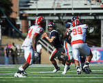 Ole Miss quarterback Jeremiah Masoli (8) looks to pass at Vaught-Hemingway Stadium in Oxford, Miss. on Saturday, September 4, 2010.