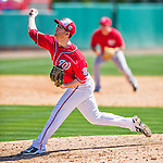 28 February 2016: Washington Nationals pitcher Erik Davis on the mound during an inter-squad pre-season Spring Training game at Space Coast Stadium in Viera, Florida. Mandatory Credit: Ed Wolfstein Photo *** RAW (NEF) Image File Available ***