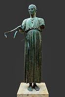 The Charioteer (Heniochos 479 B.C.) in Delphi museum, Greece